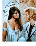 Caroline Munro signed 10 by 8 star of Bond & Hammer Horror Films